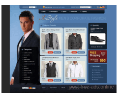 ONLINE STORE TEMPLATE for Sale